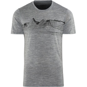 Icebreaker Tech Lite Pyrenees Shortsleeve Shirt Men grey